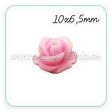 Cabuchón Resina Flor color rosa 10x10mm (10 unidades)