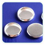 Camafeo 18mm liso plateado calidad suprema SIN ANILLAS CAMBAS-A14623 (10 unidades)