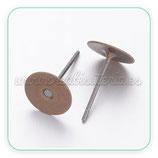 Pendiente base botón basic bronce viejo   P2897 (20 pares)