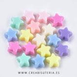 Bolsita 100 estrellas de plástico de colores   P29674