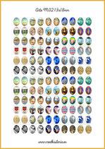 120 Imágenes para camafeos de arte M02  Formato:13x18mm