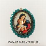 Producto Acabado - Medalla religiosa - Virgen María y Niño Jesús M005