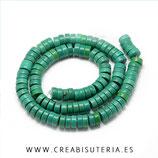 Abalorios Howlita tubular turquesa verde 6,5x3mm P954-06-6mm (122 unidades aprox.)