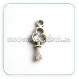 Charm Llave plata vieja mini (10 unidades)CHAOOO-C06577 - 010