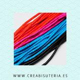 Abalorios Howlita tubular discos de colores minis 4x4mm TH- 4mm