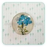 """Cabuchón Cristal Motivo """"ramo vintage de flores azules"""""""