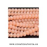 Abalorios -  Cristal facetado  4x3mm color salmón oscuro P3327