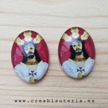 Cabuchón Cristal Religión - Cristo - EL Cautivo de Málaga fondo granate