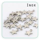 INOX - Charm estrella mini acero inoxidable anilla CHAOOO-PN025-04 (2 unidades)