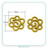 CONECTOR/A/040 - Flor espiral-oro viejo-P14149 (2 unidades)