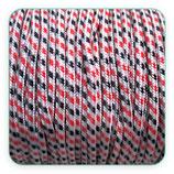 Cordón de Nylon de Escalada Redondo 3mm Blanco/negro/rojo  (3 metros)