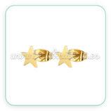 Pendientes acero inoxidable dorado - estrellas pequeñas