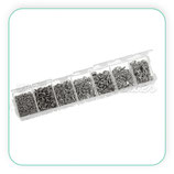 Caja anillas plateadas MATE ACCANI-C08914