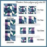 Imagen monotema cuadrado textura polígonos malva y azul  001