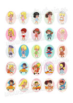 25 Imágenes Recortables Liddle kiddles paper doll 30x40mm