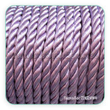 Cordón trenzado de algodón lavanda 6mm