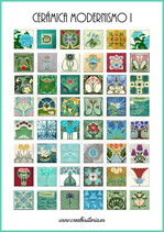 Lámina 48  Imágenes cerámica Modernismo I 20x20mm