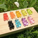Colgante Resina - Ositos Gominola de Color  - 2 unidades