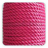 Cordón trenzado de algodón fucsia 6mm