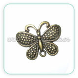 Charm Mariposa 008 - bronce antiguo puntitos CHAOOO-R03 - 10 unidades