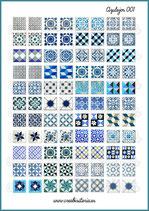 Lámina azulejos vintage 001