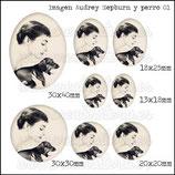 Imagen Audrey Hepburn y perro 01