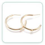 Pendiente Aro chapado en oro con anilla inferior para colgar detalle P031 (1 par)