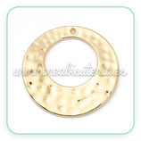 Aro circular irregular ancho plano grande tipo flamenca con agujero superior - C8114 (2 unidades)