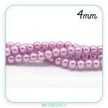 Abalorio cristal rosa púrpura aperlado  4mm (1 tira de 210 unidades aprox.) ABAL-Cristal C15394H