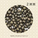 Entrepieza BOLA I - x -  bronce antiguo 2mm C66  (350 piezas)