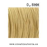 Cordón macramé Gama Deluxe 0,8mm  Color caqui  (5 metros)