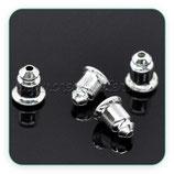 Tapones pendientes - 24 piezas-  metal plateado - taponcillos -  ACCGAN-C13281