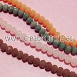 Abalorios -  Cristal facetado  4x3mm color