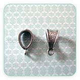 Entrepieza con ASA - EA015-  plata vieja estriada con asa (10 piezas) ENTOOO-R10386m