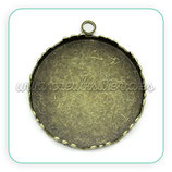Camafeo corona bronce viejo 25mm CAMBAS-C30538