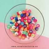 Abalorio arcilla polimérica surtido Flores & Smileys  (30 unidades)