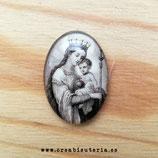 Cabuchón Cristal Religión - Virgen María y niño Jesús Vintage sepia