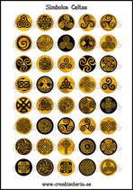 Lámina Imágenes de Símbolos Celtas Óxido I