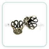 Cascarilla 10 ornamento pequeño bronce viejo (40 unidades)