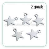 COLGANTE STAR/ - Estrella Zamak Mediana  COLOOO-C0082910 ( 8 UNIDADes)
