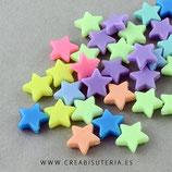Bolsita 50 estrellas colores opacos  P840 14x13x5mm
