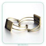 Pulsera brazalete camafeo bronce viejo CUADRADO 25mm PUL-C38911
