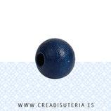 Madera abalorio redondo Azul Marino 8mm C54955 (40 unidades)