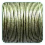 Cordón plastificado verde oliva 1,5mm (4 mtros)