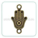 Conector espiritual -  Mano de Fatima mediana bronce viejo C45202
