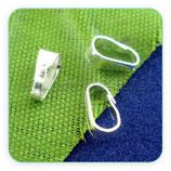 Util - Colgante clip pequeño LISO  libre de niquel y cadmio C46197 - 20 piezas