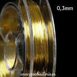 Hilo. Alambre de cobre  Carrete pequeño 0,3mm C911 (10 metros)