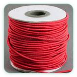 Cordón de goma rojo  2mm