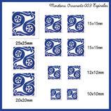 Imagen monotema cuadrada ornamento Espirales Azulón 003