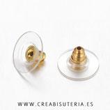 Tapones pendientes - 20 piezas plástico y metal dorado  P129